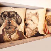 Dekokissen mit Hundemotiv viele Hunderassen